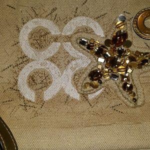 Coach Bags - Coach Audrey Beach Starfish Motif Large wristlet